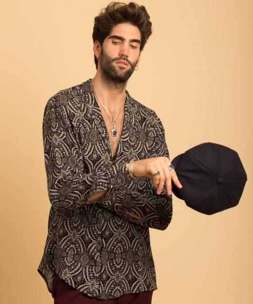 leo smoking lpm collar shirt