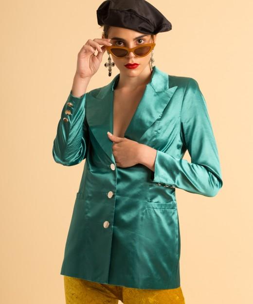 carol satin turquoise