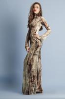 MARMOL VELVET PRINTED LONG DRESS